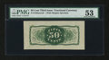 Fractional Currency:Third Issue, Fr. 1339SP 50¢ Third Issue Spinner Type II Wide Margin Back PMGAbout Uncirculated 53....