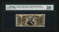 Fractional Currency:Third Issue, Fr. 1325 50¢ Third Issue Spinner PMG Choice About Unc 58 EPQ....