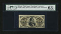 """Fractional Currency:Third Issue, Fr. 1296 25¢ Third Issue Large """"a"""" PMG Choice Uncirculated 63 EPQ...."""
