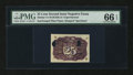 Fractional Currency:Second Issue, Milton 2E25R.1d 25¢ Second Issue Negative Essay PMG Gem Uncirculated 66 EPQ....