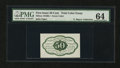 Fractional Currency:First Issue, 50¢ First Issue Trial Color Essay PMG Choice Uncirculated 64....