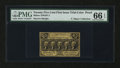 Fractional Currency:First Issue, Milton 1DP25F.2 25¢ First Issue Trial-Color Die Proof PMG GemUncirculated 66 EPQ.. ...