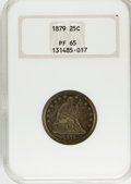 Proof Seated Quarters, 1879 25C PR65 NGC....