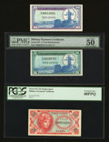 Military Payment Certificates:Series 641, Three Fractional MPC Replacements.. ... (Total: 3 notes)