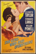 "Movie Posters:Romance, The Girl Who Had Everything (MGM, 1953). Poster (40"" X 60"").Romance. Style Z.. ..."