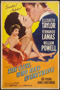 "The Girl Who Had Everything (MGM, 1953). Poster (40"" X 60""). Romance. Style Z"
