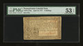 Colonial Notes:Pennsylvania, Pennsylvania April 10, 1777 3s PMG About Uncirculated 53 EPQ....