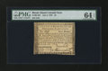 Colonial Notes:Rhode Island, Rhode Island July 2, 1780 $4 PMG Choice Uncirculated 64 EPQ....
