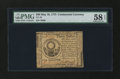 Colonial Notes:Continental Congress Issues, Continental Currency May 10, 1775 $30 PMG Choice About Unc 58EPQ....