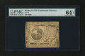 Colonial Notes:Continental Congress Issues, Continental Currency May 9, 1776 $6 PMG Choice Uncirculated 64 EPQ....