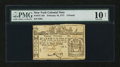 Colonial Notes:New York, New York February 16, 1771 £3 PMG Very Good 10 NET....