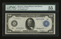 Fr. 1025 $50 1914 Federal Reserve Note PMG About Uncirculated 55