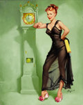 Paintings, GIL ELVGREN (American, 1914-1980). The Honeymoon's Over (A Good Man's Hard to Find Once You Marry Him), 1949. Oil on can...