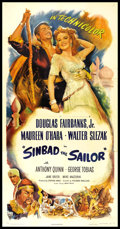 "Movie Posters:Adventure, Sinbad the Sailor (RKO, 1946). Three Sheet (41"" X 81""). Adventure.. ..."