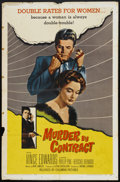 "Movie Posters:Crime, Murder by Contract (Columbia, 1958). One Sheet (27"" X 41""). Crime.. ..."
