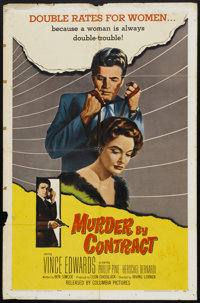 """Murder by Contract (Columbia, 1958). One Sheet (27"""" X 41""""). Crime"""