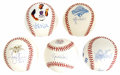 Autographs:Baseballs, Modern Stars Single Signed Baseballs Lot of 5. Single signedbaseballs courtesy of some of the game's recent top players. I...