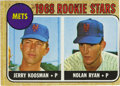 Baseball Cards:Singles (1960-1969), 1968 Topps Mets Rookie Stars Koosman/Ryan #177. Rookie card for theHOF pitcher, shown with fellow New York Mets rookie pitc...