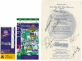 Autographs:Letters, Atlanta Braves Signed Ephemera Lot of 2 with 1998 NLCS Ticket Stub. Lot includes a ticket stub from the 1998 NLCS as well a...