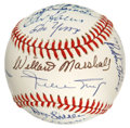 Autographs:Baseballs, 1951 New York Giants Reunion Signed Baseball. Signed at a reunionevent for the 1951 NL pennant winners, the ONL (Giamatti) ...