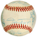 Autographs:Baseballs, 1987 New York Mets Old Timers Day Multi-Signed Baseball. Twenty-onewho were in attendance at a 1987 New York Mets Old Time...