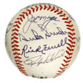Autographs:Baseballs, 1990 Hall of Fame Multi-Signed Baseball. The ONL (White) ball weprovide here has been decorated by a total of 15 signature...