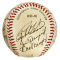Autographs:Baseballs, New York Mets Old Timers' Day Multi-Signed Baseball. A total of 17signatures from the Old Timers' Day hosted by the New Yor...
