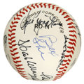 Autographs:Baseballs, 1988 New York Baseball Writers' Dinner Multi-Signed Baseball.Twenty signatures collected at the 1988 edition of the annual...