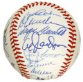 Autographs:Baseballs, 1988 New York Mets Old Timers' Days Multi-Signed Baseball. A totalof 24 signatures appear on the clean ONL (Giamatti) orb ...