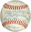Autographs:Baseballs, Brooklyn & Los Angeles Dodgers Legends Signed Baseball from theCasey Stengel Collection, PSA Mint+ 9.5. When the notorious...