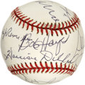 Autographs:Baseballs, 100 Yard Dash Gold Medal Winners Multi-Signed Baseball. Complied ata dinner for Jesse Owens held in 1996, we present here ...
