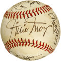 Autographs:Baseballs, New York Mets Old Timers Day Multi-Signed Baseball. The toned ONL(Feeney) orb that we see here has the privilege if donni...