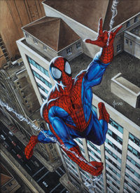 Joe Jusko Spider-Man Painting Original Art (undated)