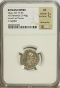 Ancients:Roman Imperial, Ancients: Titus. As Caesar, A.D. 69-79. AR denarius (18 mm, 3.46 g,6 h)....