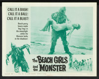 """The Beach Girls and the Monster (U.S. Films Inc., 1965). Lobby Cards (7) (11"""" X 14""""). Horror. ... (Total: 7 It..."""