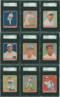 Baseball Cards:Singles (1930-1939), 1933 Goudey Baseball SGC 50 VG/EX 4 Graded Group of (9) - With #158Berg!...