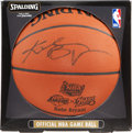 Autographs:Others, Kobe Bryant Signed Leather NBA Finals Basketball. ...