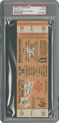 Baseball Collectibles:Tickets, 1955 All-Star Game Full Ticket PSA VG-EX 4....