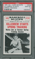 Baseball Cards:Singles (1960-1969), 1961 Nu-Card Scoops Killebrew Starts #449 PSA Gem Mint 10....