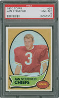 Football Cards:Singles (1970-Now), 1970 Topps Jan Stenerud #25 PSA NM-MT 8....