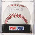 Autographs:Baseballs, Justin Morneau Single Signed Baseball PSA Mint 9....