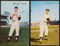 Baseball Collectibles:Others, 1953-55 Mickey Mantle Dormand Postcards Lot of 2.... (Total: 2cards)