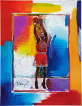 Autographs:Others, Michael Jordan Signed Peter Max Lithograph....