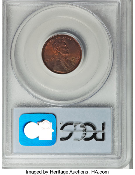 1993-D Lincoln Cent--Struck with Dime Reverse Die--MS65 Red PCGS