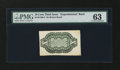 Fractional Currency:Third Issue, Milton 3E10R.2 10¢ Third Issue Experimental Back on Bristol Board PMG Choice Uncirculated 63. ...