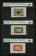 Fractional Currency:Third Issue, Fr. 1236/8SP 5¢ Third Issue Wide Margin Set of Three PMG Choice About Unc 58; Gem Uncirculated 65 EPQ; About Uncirculated 55 E... (Total: 3 notes)