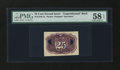 Fractional Currency:Second Issue, Milton 2E25R.2a 25¢ Second Issue Experimental PMG Choice About Unc 58 EPQ....