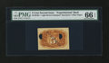 Fractional Currency:Second Issue, Milton 2E5R.1 5¢ Second Issue Experimental Back PMG Gem Uncirculated 66 EPQ....