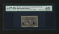 Fractional Currency:Second Issue, Milton 2E25FR.6 25¢ Second Issue Experimental with Purple Back and Blank Shield PMG Choice Uncirculated 64 EPQ....