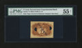 Fractional Currency:Second Issue, Milton 2E5R.1a/1b 5¢ Second Issue Experimental PMG About Uncirculated 55 NET....